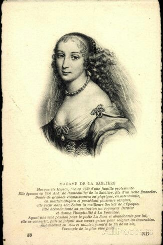 Madame de la Sabliere in 18th century the suspected custom of taking tea with milk is attributed to her.