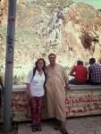 Argelia behind me