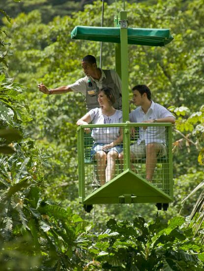 The Gamboa Rainforest Aerial Tram is a unique eco-tourism experience.