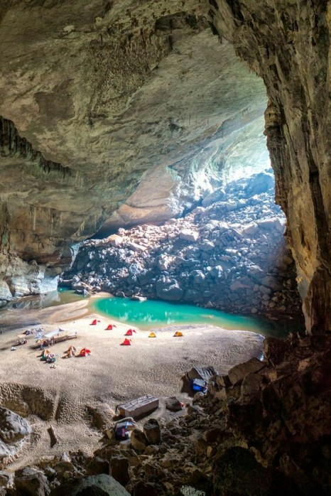The 3rd largest cave in the world deep in Bang National Park in Vietnam.