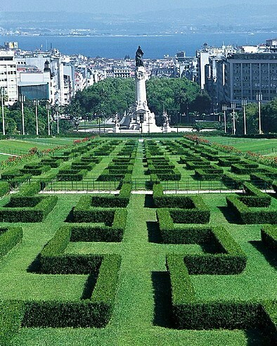 Park Eduardo VII - Lisbon - Portugal. Great view from Ritz Four Seasons