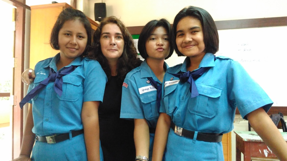 English class at a Public School in Thailand. Scouts day. These ladies and gentleman may my day. It´s so rewarding. The culture in Thai and the Thai people highly appreciate their teachers. Take good care of the children.