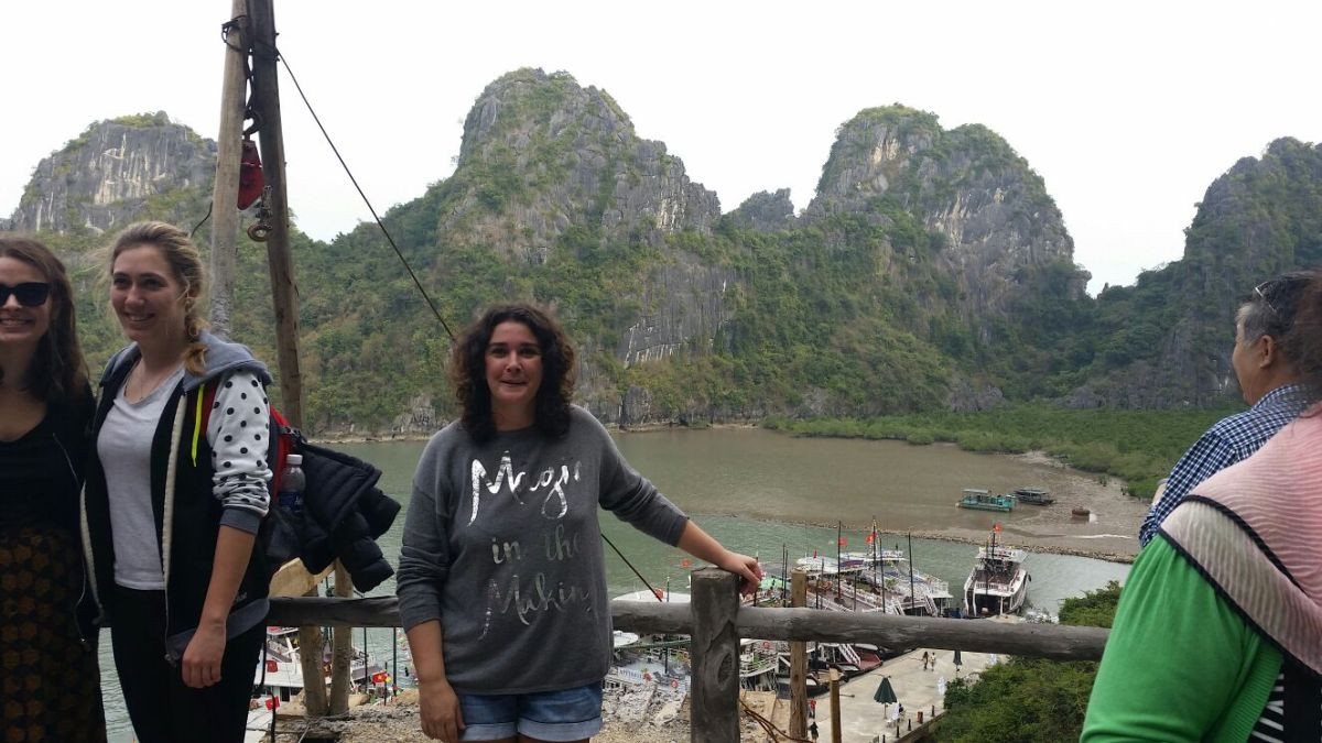 Halong Bay in Vietnam. One of the most beautiful places on Planet Earth. I encourage you to visit and help the community.