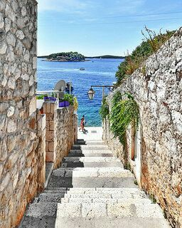 Hvar. Take the ferry or the bus and enjoy sailing, Croatian food and night life.
