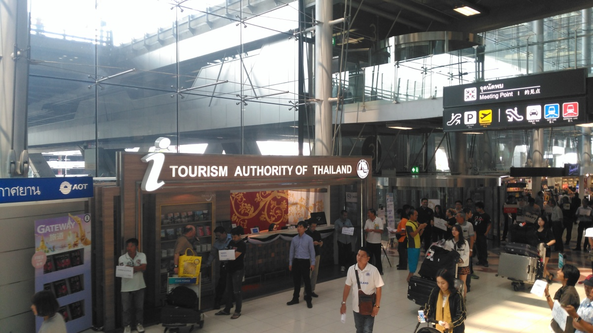 Bangkok main airport. Tourism of Thailand.