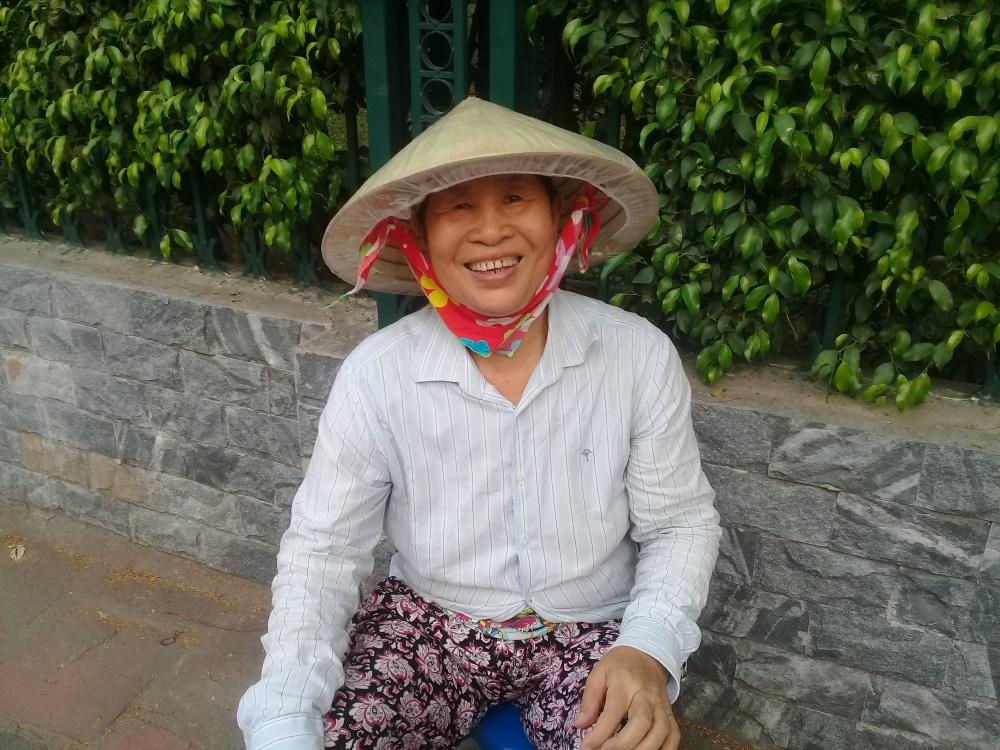 Vietnamese smiling face in Hanoi