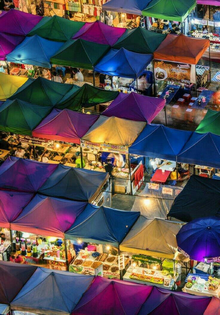 Visit the flea market in Bangkok.